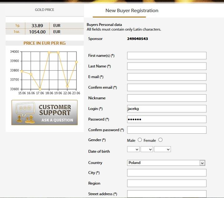Rejestracja Global Intergold