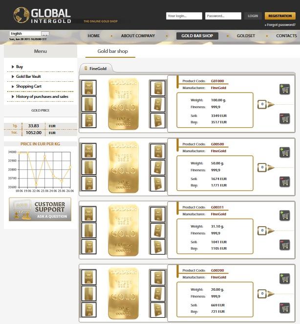 Gold Bar Shop